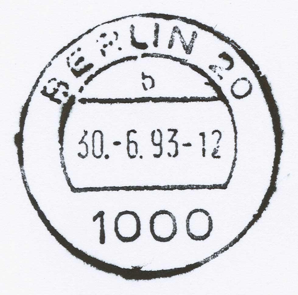 Ber 40 falsche poststempel entdeckt vpev wir pr fen - Stempel berlin mitte ...